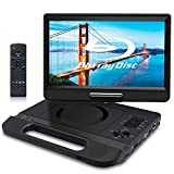 "FANGOR 10.1"" Portable Blu Ray Player, Built in Rechargeable Battery, Support USB/SD Card, HDMI Out & AV in, Snyc Screen, 1080P Video, Dolby Audio, Last Memory, Region Free"